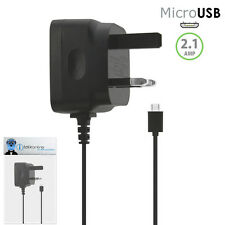 3 Pin 2.1 AMP UK Micro USB Mains Charger for Sony Ericsson Vivaz Pro