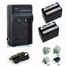 7200mAh NP-F970 NPF960 NPF970 Li-ion Battery / Charger set for Sony NP-F550 F570