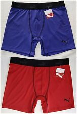 Puma Men's Boxer Brief Athletic Underwear XL 40/42 Red / Blue Sport Stretch Fit