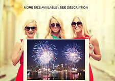 Wall Art Canvas Print Picture New York City Fireworks on 4th of July-Unframed
