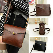 Retro Womens Leather Shoulder Bag Satchel Tote Hobo Messenger Phone Coin Handbag