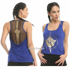 Her Universe DC Comics Wonder Woman Daughter Of Themyscira Sword Blue Tank Top