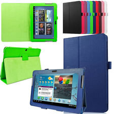 Leather Folio Case Stand Cover For SAMSUNG Galaxy Tab 2 10.1-inch P5100 P5110
