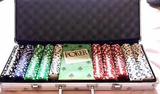 Antique Old Poker Chips Casino Set Clay Vintage Case Chip with Poker Game Book