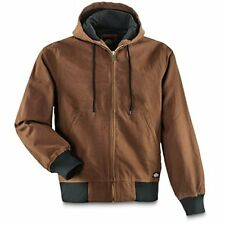 Dickies Men's Big and Tall Sanded Duck Thermal Lined Hooded Jacket
