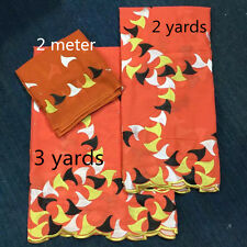 african cotton fabric set in 3 yards add 2 yards and 2 meter ,african fabric