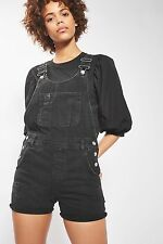 TOPSHOP *Black MOTO Short Denim Dungarees* SIZE_UK6_8_10_12_14_16