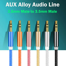3.5mm AUX AUXILIARY CORD Male To Male Audio Stereo Cable PC iPod MP3 CAR