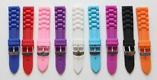 18mm Rubber Silicone Watch Replacement Strap Band Ice Toy Style Watch 3 PINS inc