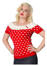 NEW 1950s Vintage Retro Rockabilly Style Polka Dot Top - Limited Edition - Small