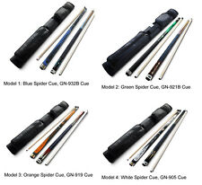 Champion Spider Pool Cue Stick, GN Serious Pool Cue, 2X2 Black Cue case