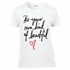 Be your own beautiful Tshirt-quote Tee-beauty T-womens short sleeved Tee