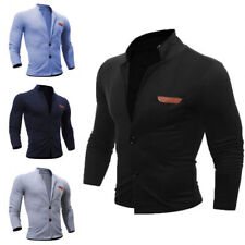 New Hot Men's Slim Stand Collar Coat Jacket Outerwear Overcoat Blazer Tops w103