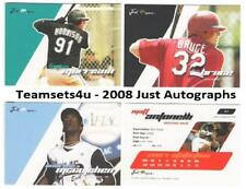 2008 Just Autographs Baseball Set ** Pick Your Team **