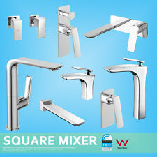 Square Tall Basin Kitchen Sink Vanity Shower Mixer Diverter Wall Spout Twin Tap