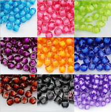 Wholesale 50 /100Pcs  Rondelle Faceted Loose Spacer Beads Jewelry Colorful