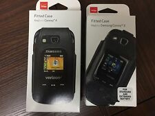 Verizon OEM Leather Fitted Case/Holster Belt Clip For Samsung Convoy 3 / 4