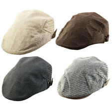 Men Women Vintage Style Newsboy Linen Ivy Cap Driving Golf Casual Flat Beret Hat