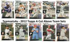 2012 Topps A Cut Above Baseball Set ** Pick Your Team **