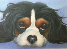 cavalier king charles spaniel painting fine art giclee print picture