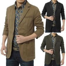 Men's Casual Slim Fit Suits Blazer Business Coats Jacket Formal Lapel Parka Tops