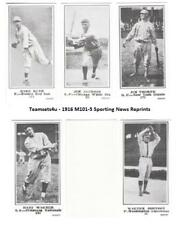 1916 M101-5 Sporting News (Blank Back) Reprints Baseball Set ** Pick Your Team *
