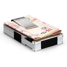 Men Stainless Steel Elastic Band Slim Money Clip Credit Card Holder Wallet