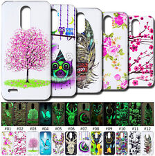 Soft Pattern Cover Rubber Night Lights Fluorescence Retro Skin TPU Case For LG