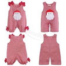 Newborn Baby Girl Boy Christmas Santa Romper Outfits Costume Dress Xmas Clothing
