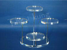 4 Tier acrylic circle stand displays