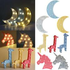 MagiDeal 3D LED Table / Wall Lamp Kids Children Bedroom Bed Lamp Night Light Toy
