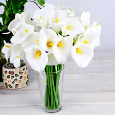 Bouquets 10pcs LILY CALLA Real Touch Decorative Flowers Artificial For Wedding