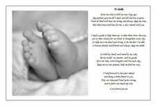 Personalised Naming day Ceremony Poem gift - From Child to Supporting Adult