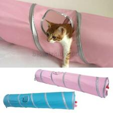 MagiDeal Folding Cat Tunnel Stripe Two Suspend Balls Pet Toy Indoor and Outdoor