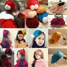 Lady Feather Rose Top Cap Hat Lace fascinator Girl Hair Clip Costume Accessory