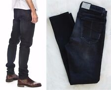 NWT NEUW Iggy Skinny Form Raven Slim Fitted Tapered Mens Jeans Sz 31,32 RRP $179