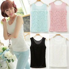 Summer Sleeveless Sexy Camisole Women Lace Floral Tank Top Shirt Vest Blouse