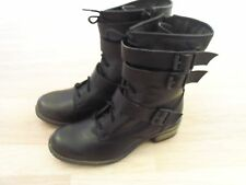 NEW FAITH  Leather  Biker Style Boots in Black - Size UK 5 or 7 Available