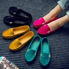 Womens Classic Canvas Slip on Round Toe Shoes Loafers Driving Peas Flat Casual