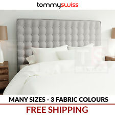 TOMMY SWISS: Upholstered Fabric Bed Head Headboard - Double Queen King for Frame
