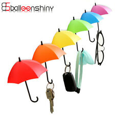 3pcs Umbrella Shaped Creative Key Hanger Rack Decorative Holder Wall Hook Kik