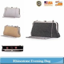 Women Lady Rhinestone Evening Bag Party Clutch Messenger Chain Handbag Wedding