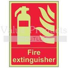 VSafety Glow In The Dark Photoluminescent Fire Extinguisher Equipment Sign