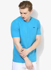 Fila Aqua Blue V Neck T-Shirt