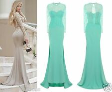 CELEB MINT SPARKLE SLINKY FITTED MAXI FISHTAIL PARTY PROM COCKTAIL DRESS 6 -18
