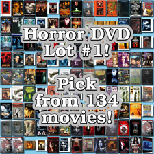 Horror DVD Lot #1: 134 Movies to Pick From! Buy Multiple And Save!