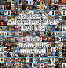 Action & Adventure DVD Lot #8: 245 Movies to Pick From! Buy Multiple And Save!