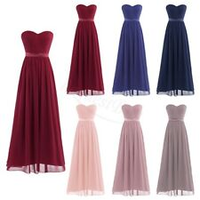 Long Chiffon Formal Party Bridesmaid Dresses Evening Prom Dress Ball Gown
