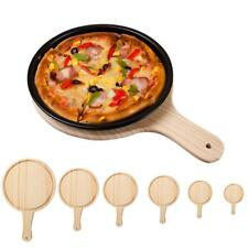 MagiDeal Wood Board Kitchen Pizza Plate Serving Tray with Handle 6 Sizes