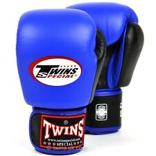 Twins 2-Tone Blue-Black Boxing Gloves Muay Thai Boxing Gloves Twins Special UK S